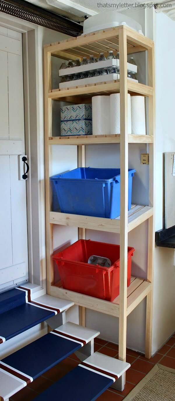 Floor-to-Ceiling Small Space Utilization #garage #organization #declutter #decorhomeideas