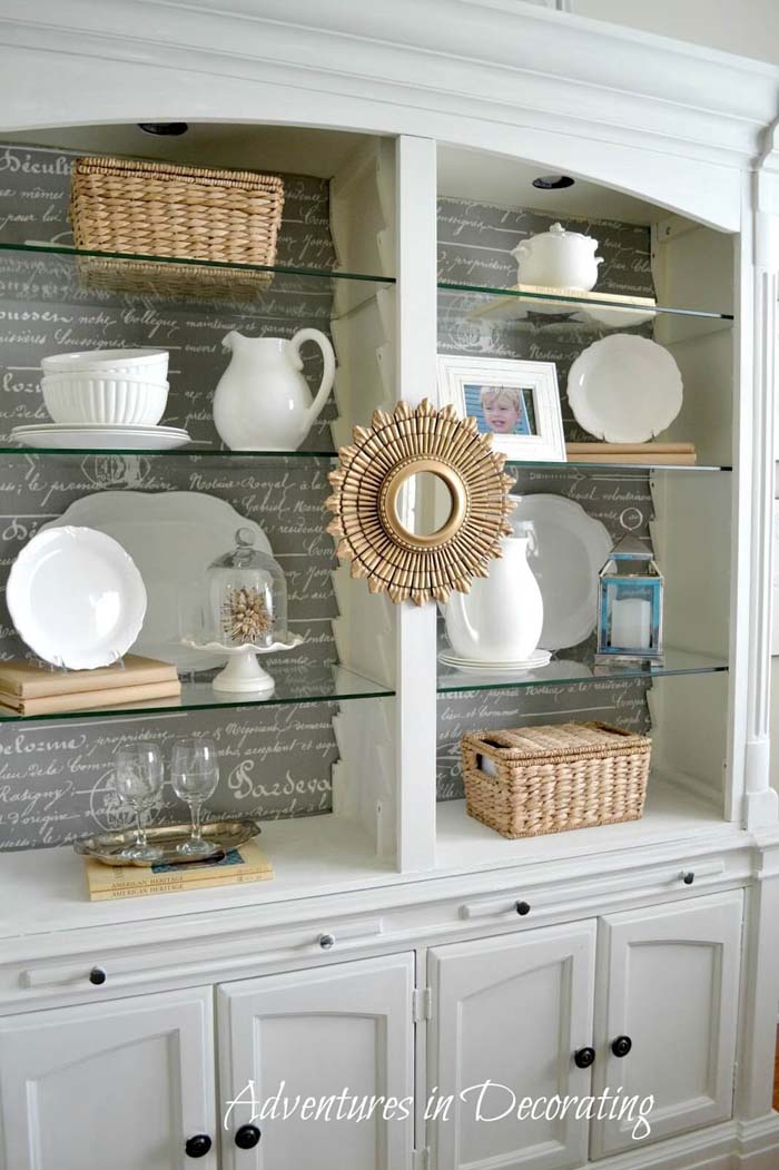 French Provincial Inspired Open Display #diningroom #storage #decorhomeideas