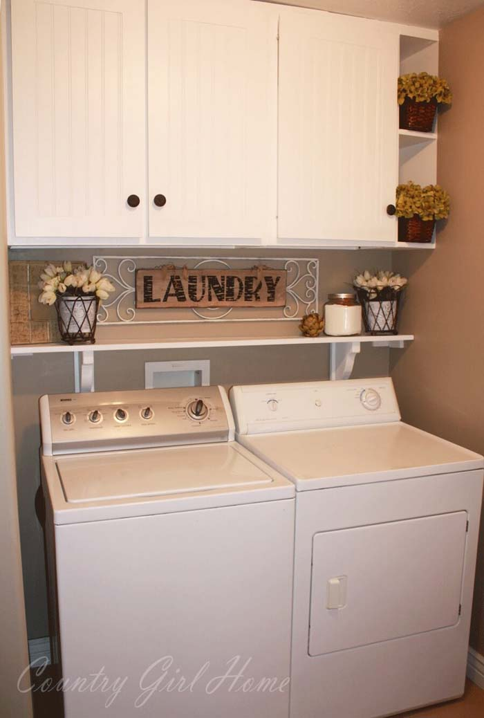 Fresh Out of the Dryer Laundry #laundryroom #small  #design #decorhomeideas