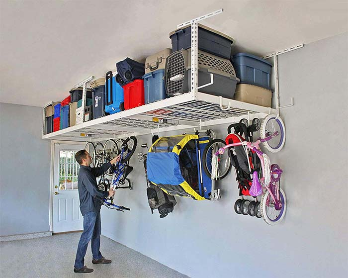 Garage Ceiling Storage Idea