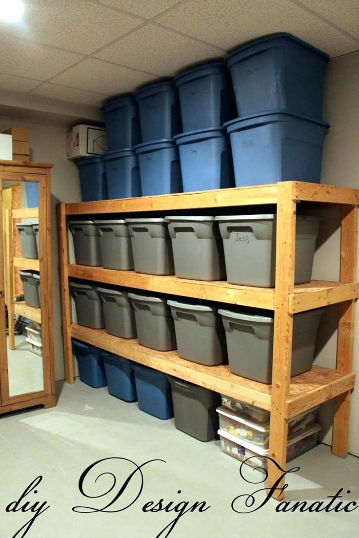 Garage Organization Ideas with Bins #garage #organization #declutter #decorhomeideas