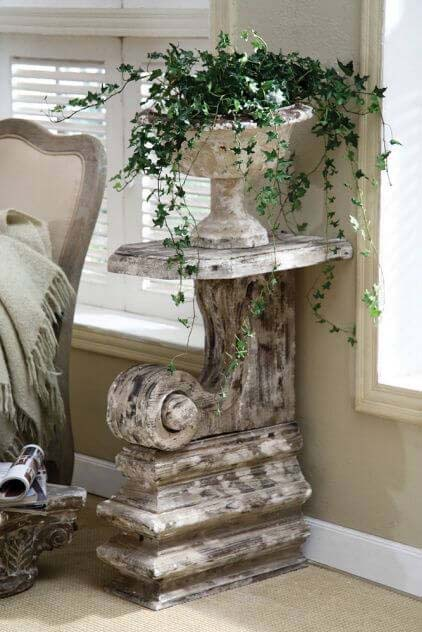 Great Expectations Inspired Urn Display #corbel #decoration #decorhomeideas