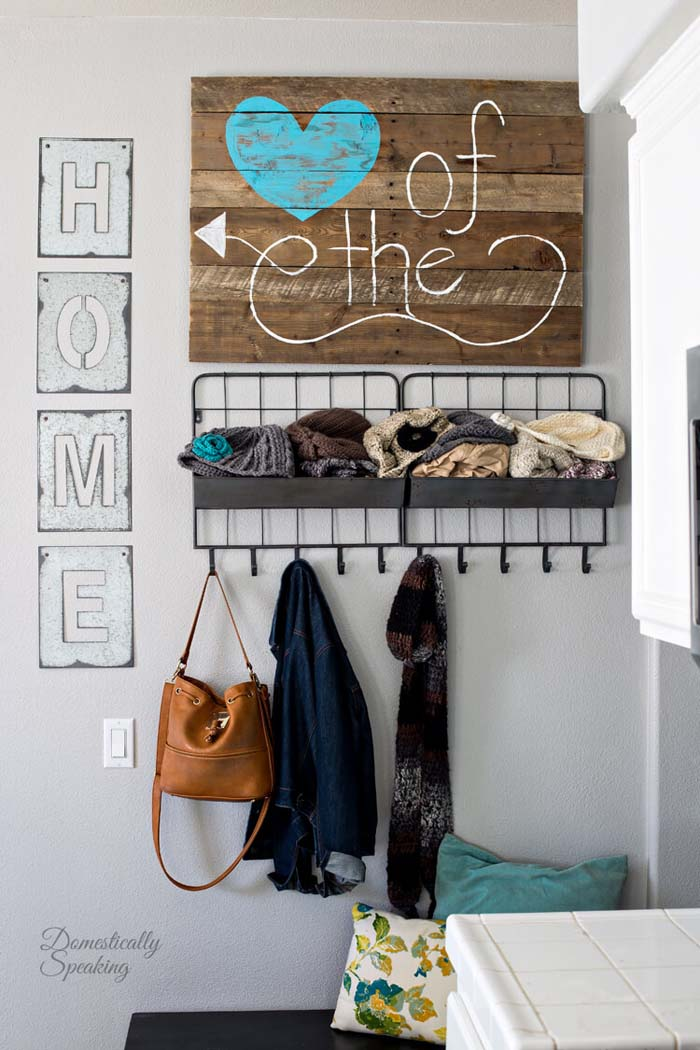 Heart of the Home DIY Sign #diy #pallet #sign #decorhomeideas