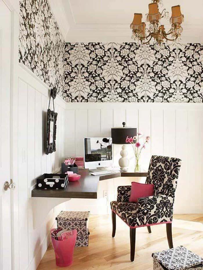 Home Office Corner Desk #storage #corner #organization #decorhomeideas