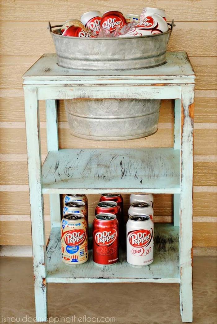 Instant Drink Station with Bucket and Soda #galvanized #tub #bucket #decorhomeideas