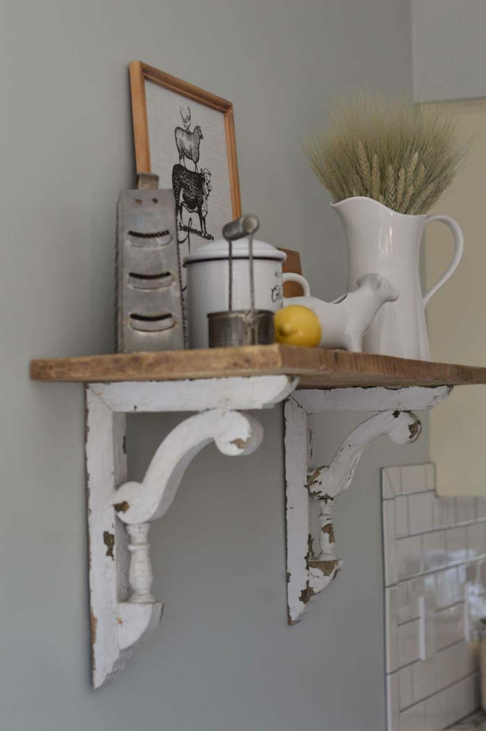 Instant Shelf with Corbels and Board #corbel #decoration #decorhomeideas