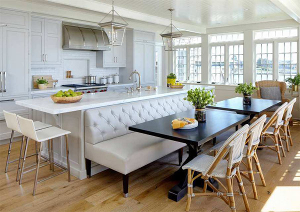 Island Bench Doubles as Dining Area #kitchen #bench #decorhomeideas