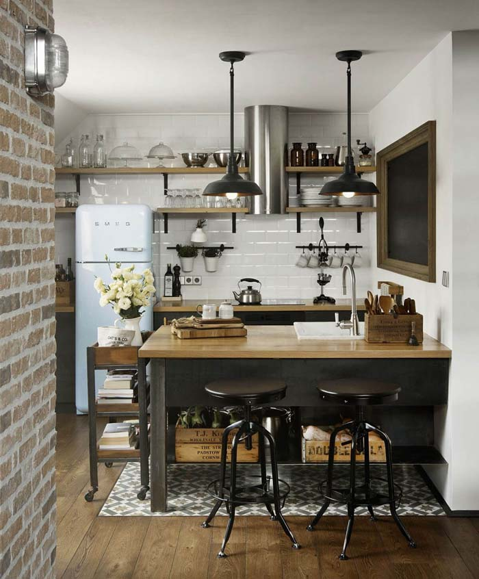 Keeping Rustic Alive and Well #small #kitchen #design #decorhomeideas