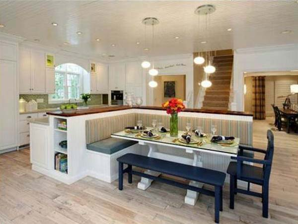 L Shaped Kitchen Island With Bench