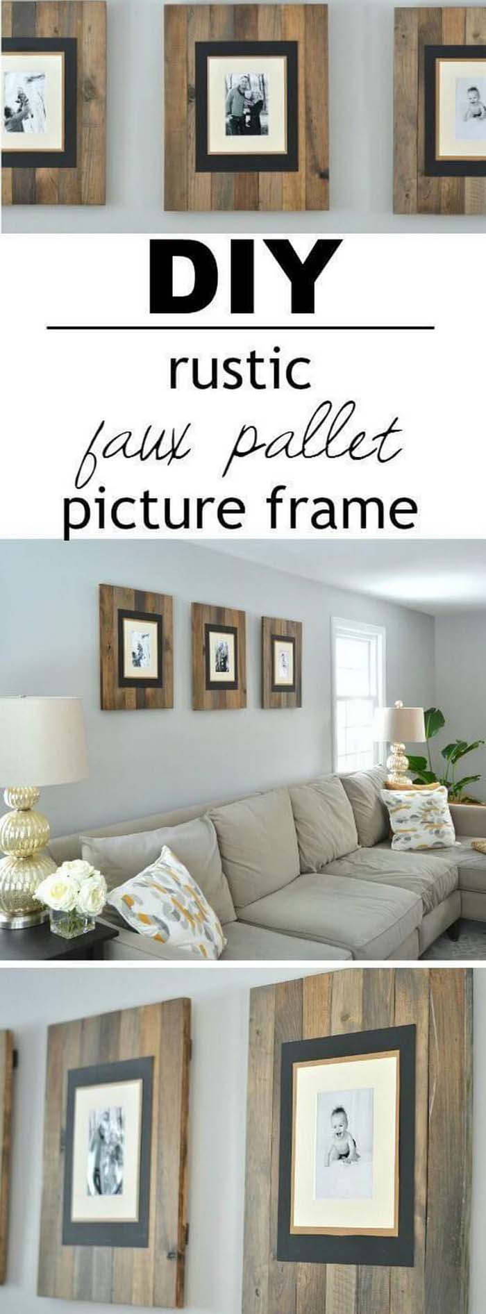 Make Your Own Pallet Style Frames #rustic #livingroom #walldecor #decorhomeideas