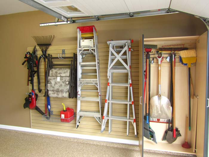 No Tool Shed Required Garage Layout #garage #organization #declutter #decorhomeideas