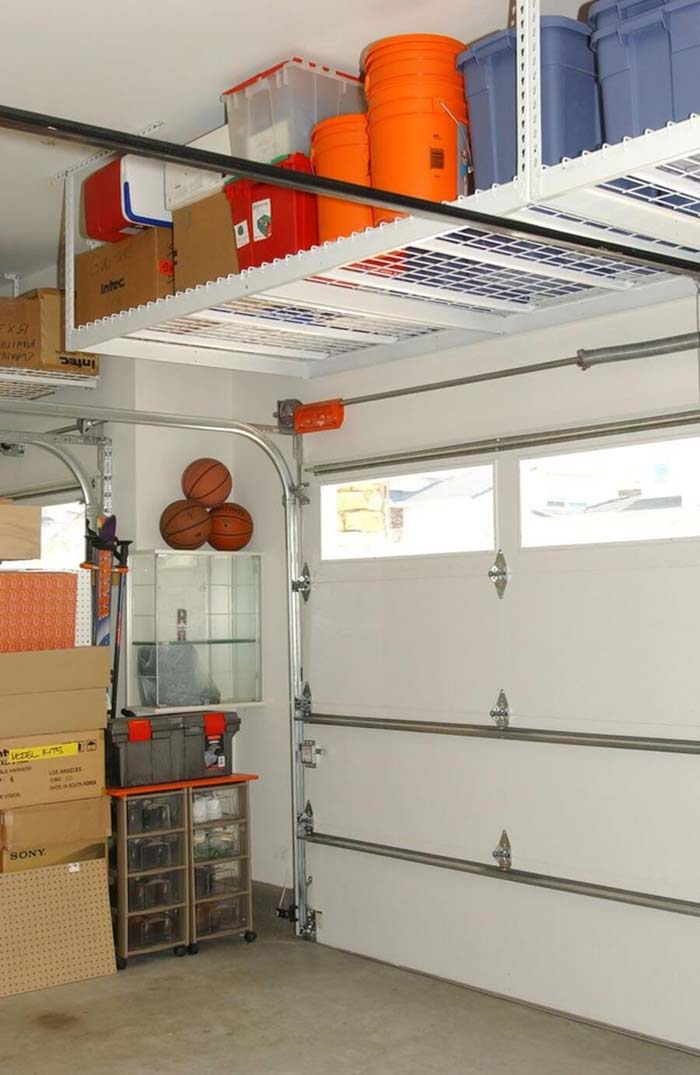 Ingenious Over-the-Door Shelving Unit #garage #organization #declutter #decorhomeideas