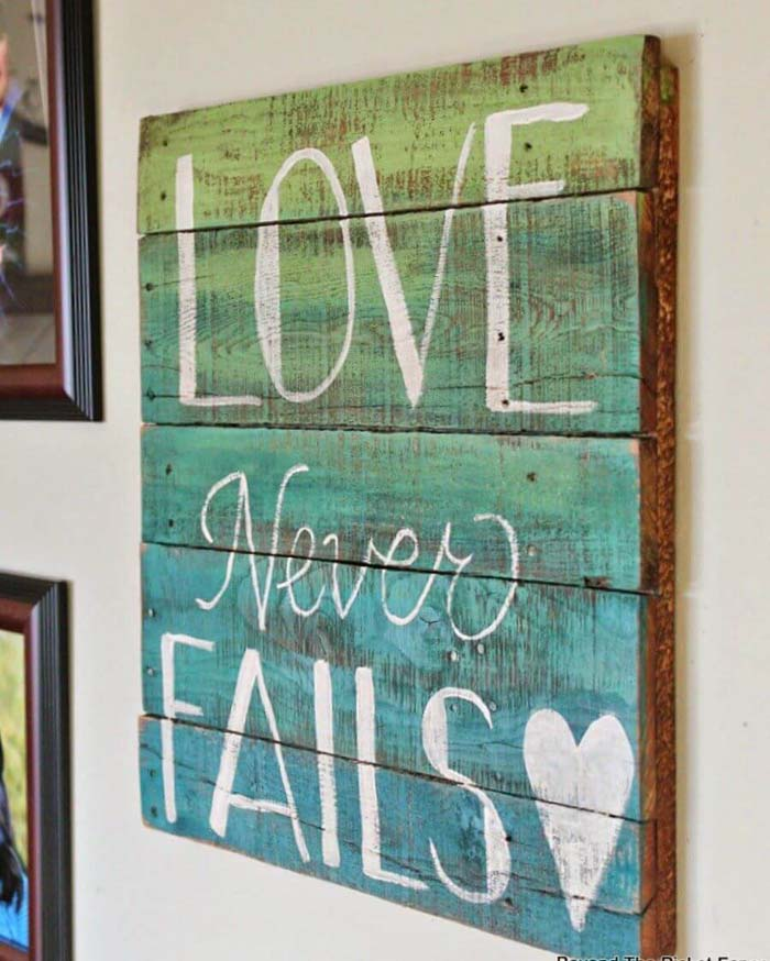 Painted Pallet Sign #diy #pallet #sign #decorhomeideas