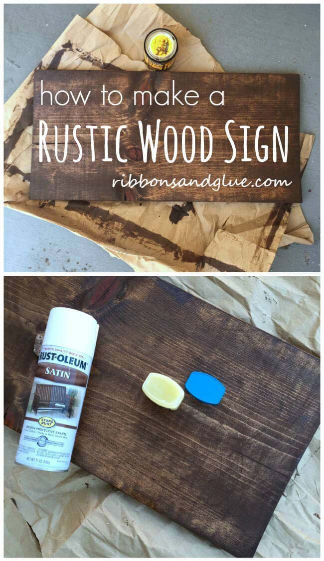 How to make a Plain Wood Board Look Rustic #diy #pallet #sign #decorhomeideas