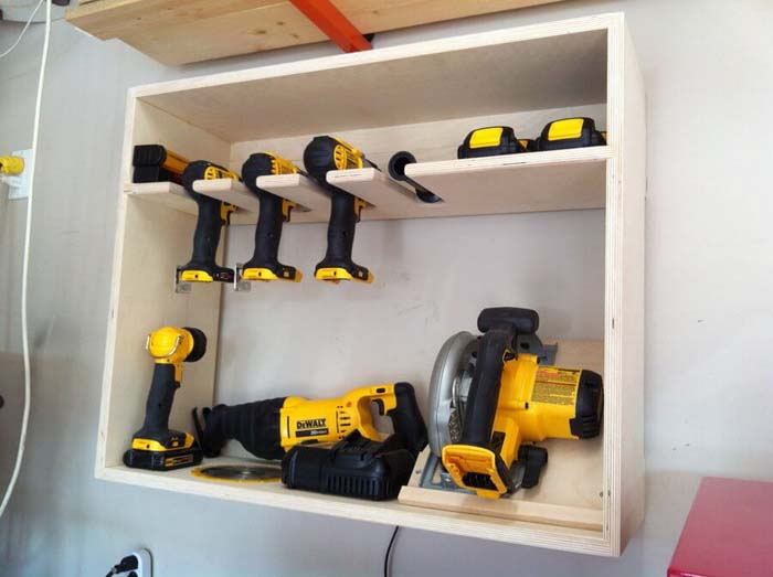 Power Storage for Power Tools #garage #organization #declutter #decorhomeideas