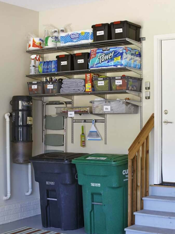 Put a Pantry in Your Garage #garage #organization #declutter #decorhomeideas