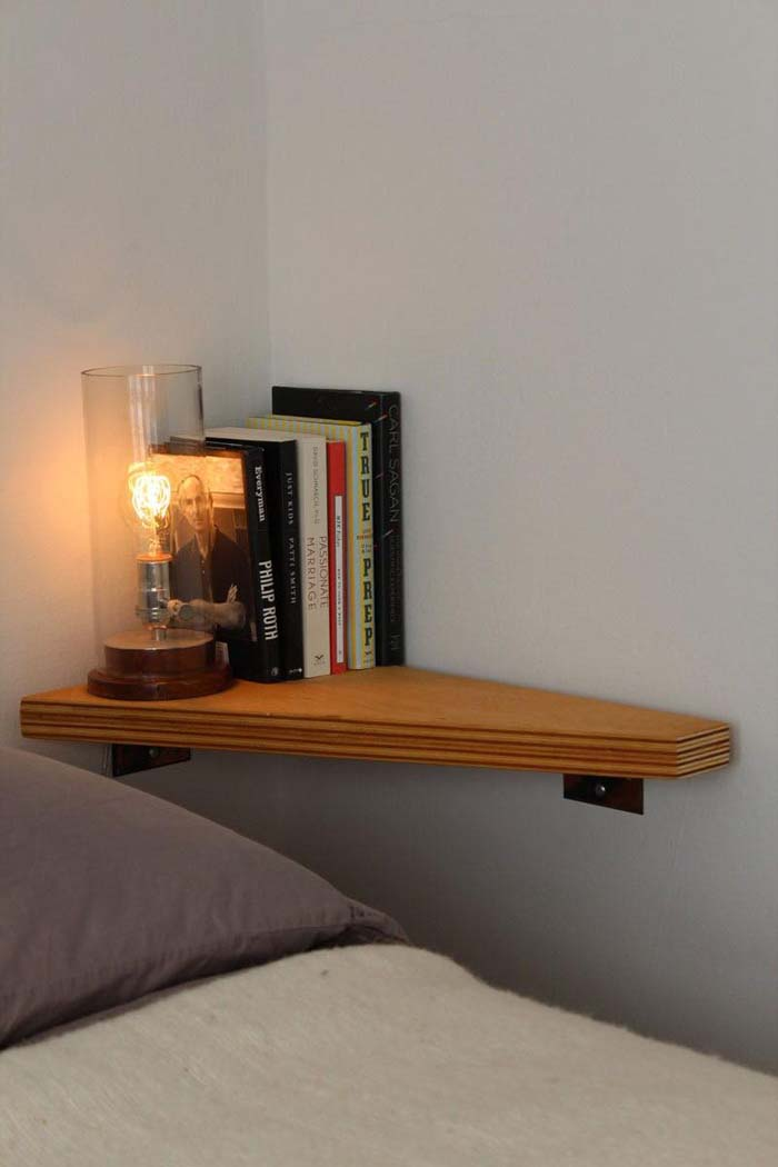 Simple Wall Shelf for the Bedroom #storage #corner #organization #decorhomeideas