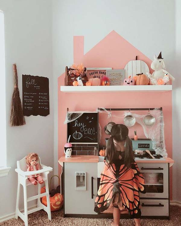 Spooky Play Kitchen Ideas #halloween #kidsroom  #nursery #decorhomeideas