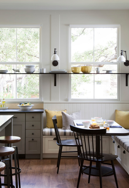 Sunny Window Bench Breakfast Nook #kitchen #bench #decorhomeideas