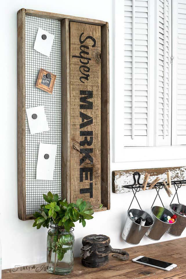 Super Market Shopping List Sign #diy #pallet #sign #decorhomeideas