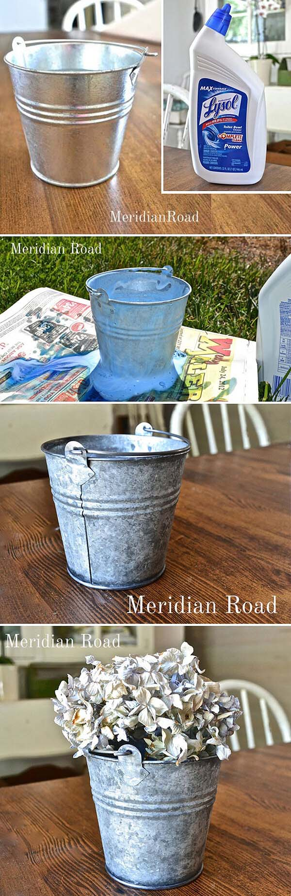 Table Decorations Featuring Rustic Buckets #galvanized #tub #bucket #decorhomeideas