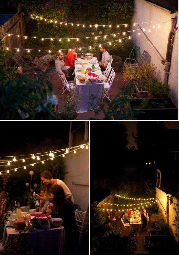 Three Light Strands Make a Big Impact #stringlight #garden #yard #decorhomeideas