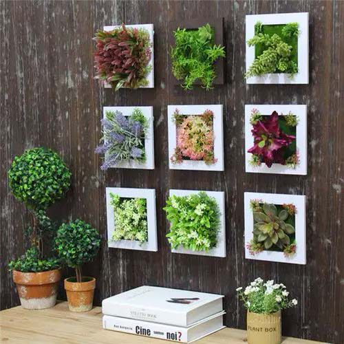 Tiny Framed Plants #houseplant #wall #decor #decorhomeideas