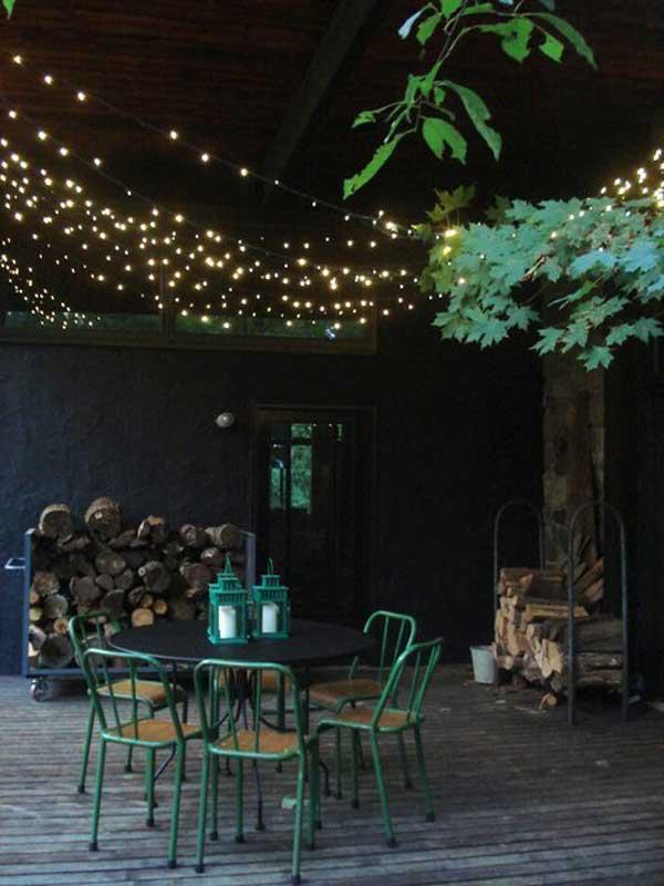 Tiny White Fairy Lights Brighten a Dark Corner #stringlight #garden #yard #decorhomeideas