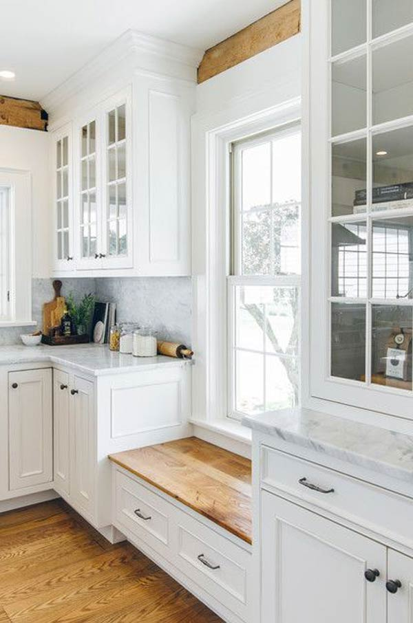 Tiny Window Seat Bench Doubles as a Storage Unit #kitchen #bench #decorhomeideas