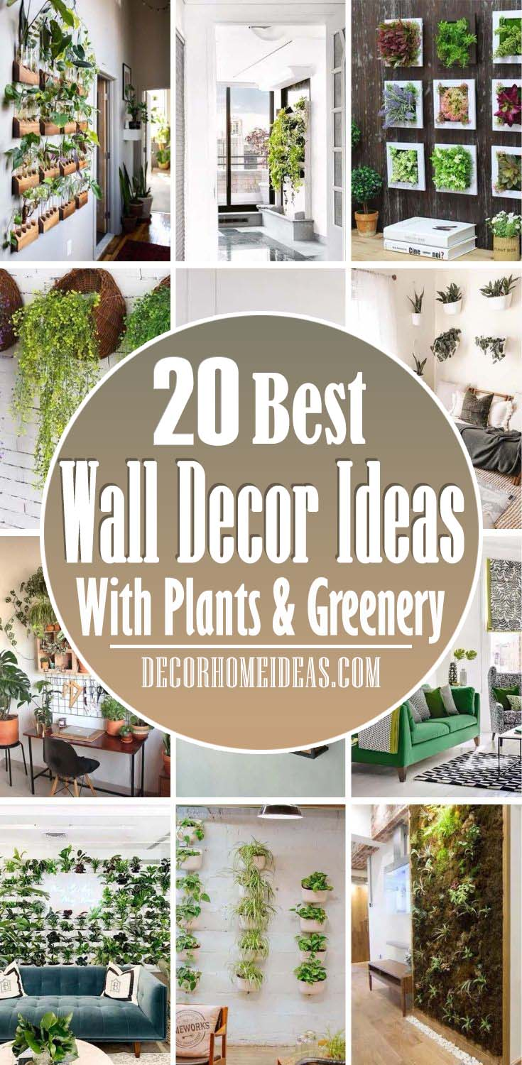 Wall Decor Ideas With Plants And Greenery. Brighten up your rooms with some plants and greenery with these clever ideas and DIYs projects. Check some cool wall decor ideas. #decorhomeideas