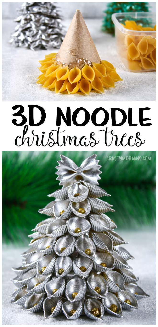3D Pasta Noodle Christmas Tree #Christmas #tree #crafts #decorhomeideas