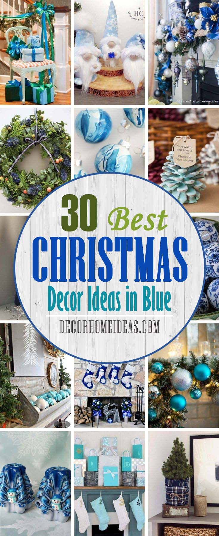 Best Blue Christmas Decor Ideas. Want to have a blue Christmas this year? Try one of these DIY blue Christmas decor ideas to turn your home into an icy winter wonderland. From whimsical garlands to stunning ornaments, find a project you love here.  #decorhomeideas