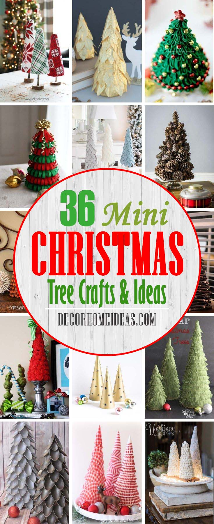 Best DIY Mini Christmas Tree Crafts. Add a little holiday cheer to your home with these festive tabletop DIY Christmas tree decorations! These Christmas tree crafts are fun, easy & kid-friendly #decorhomeideas
