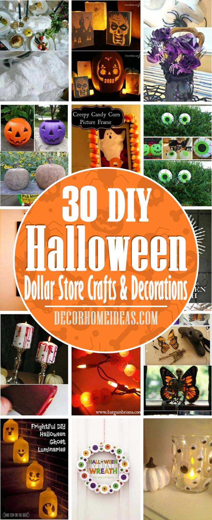 Best Dollar Store Halloween Crafts And Decorations. Trying to spruce up your home with some Halloween fright, but don't want to spend a lot? Well, there are many awesome spooky crafts you can make yourself with just a few simple, cheap supplies from the dollar store. #decorhomeideas