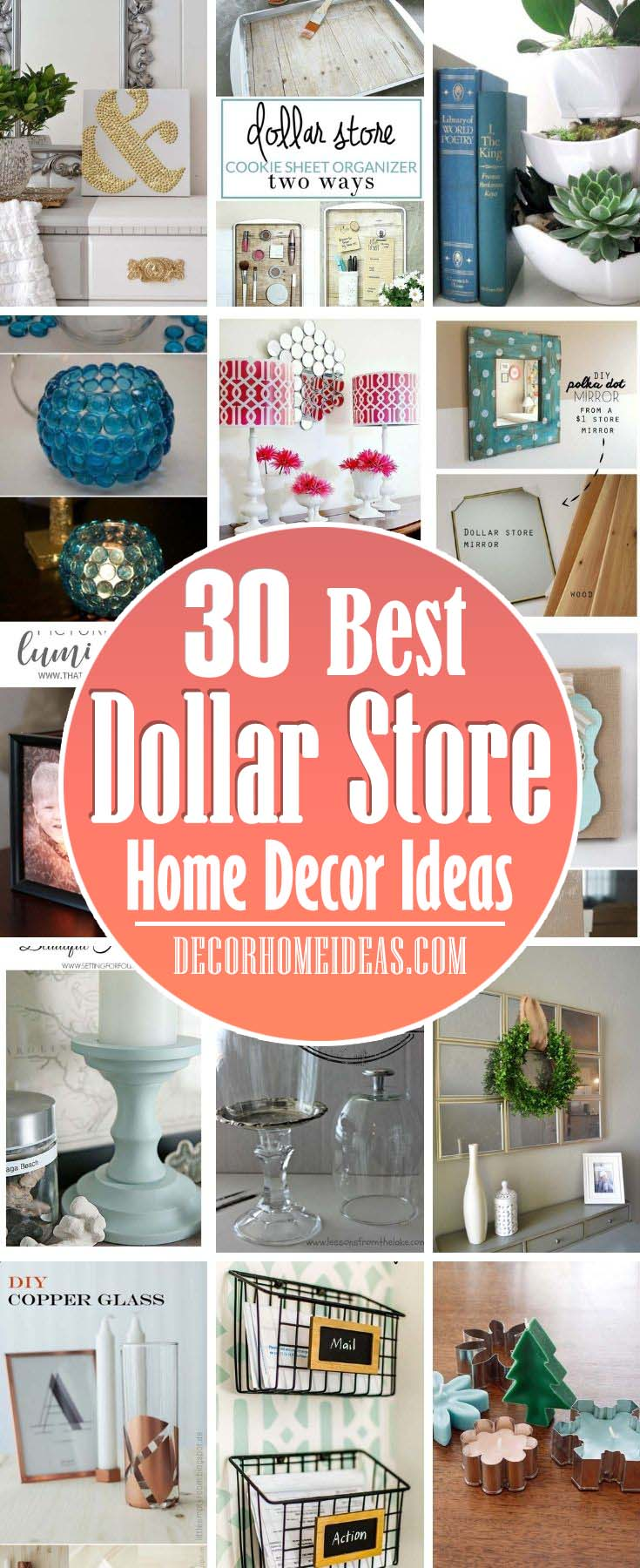 Best Dollar Store Home Decor Ideas. Need to decorate on a budget? These <a href=