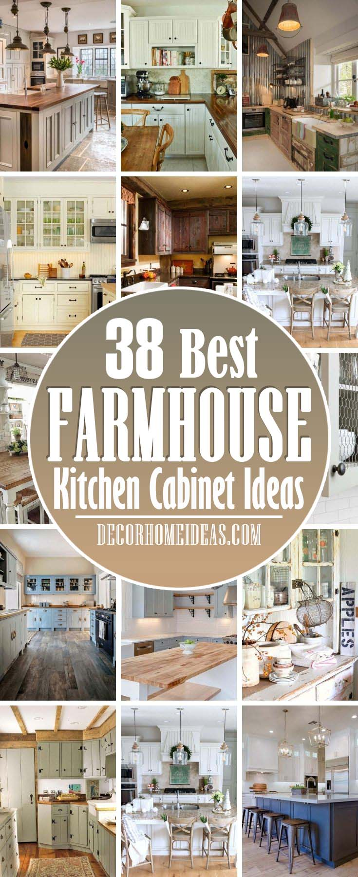 Best Farmhouse Kitchen Cabinet Ideas. If you have been considering a farmhouse kitchen for your house, you are in luck because today, we bring you these gorgeous farmhouse kitchen cabinet ideas. #decorhomeideas