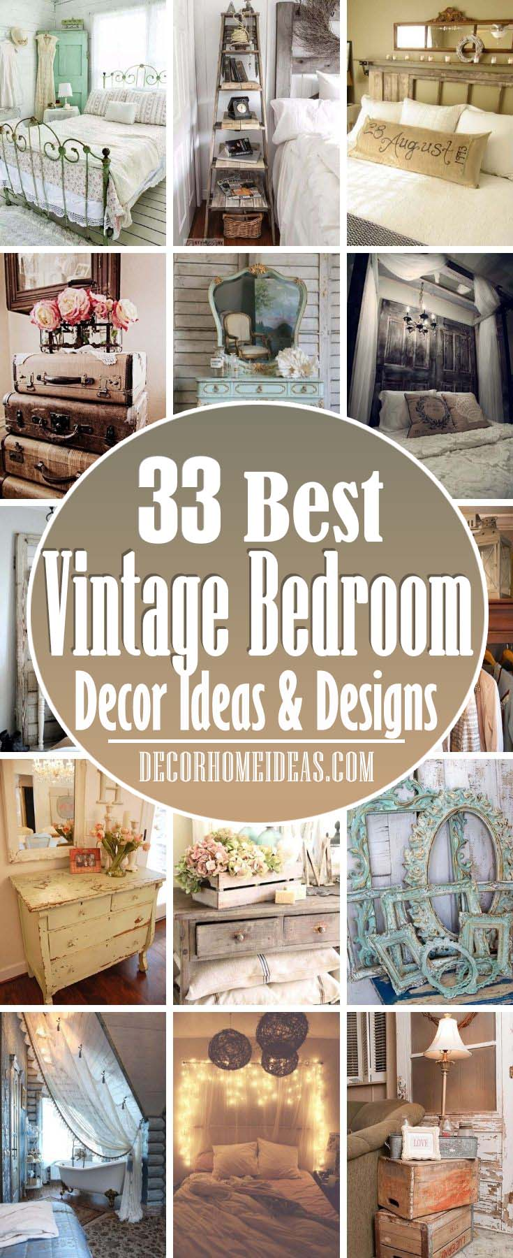 Best Vintage Bedroom Decor Ideas. This exquisite and delicate vintage style is very popular, and we've prepared some adorable bedroom design ideas for those who like it.  #decorhomeideas