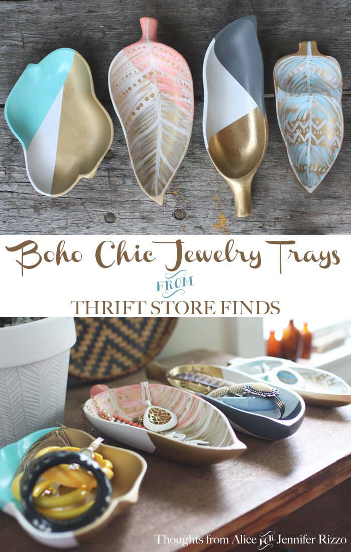 Boho Chic Jewelry Trays #dollarstore #diy #homedecor #decorhomeideas