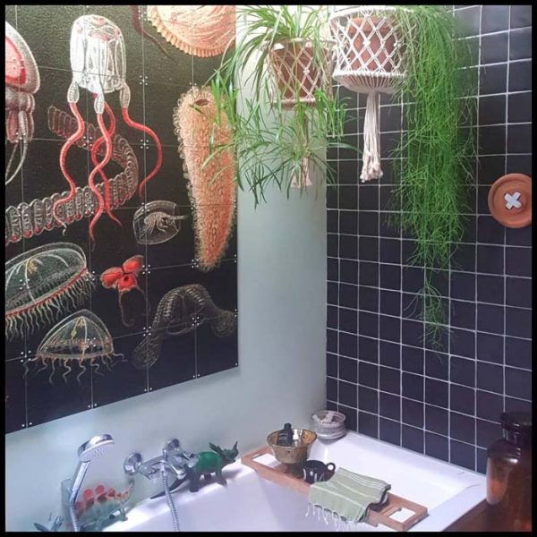 Ceiling Height Plants In Small Bathroom