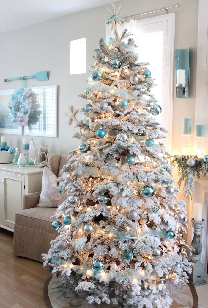 Coastal Christmas Tree #diy #coastal #christmas #decorhomeideas