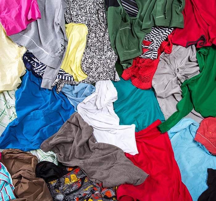 Colorful Messy Laundry