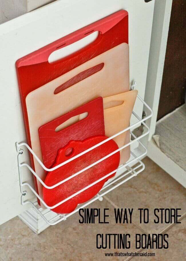 Cutting Board Storage #smallkitchen #storage #organization #decorhomeideas