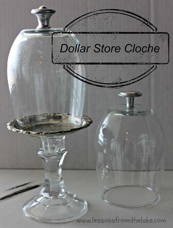 Dollar Store Cloche #dollarstore #diy #homedecor #decorhomeideas