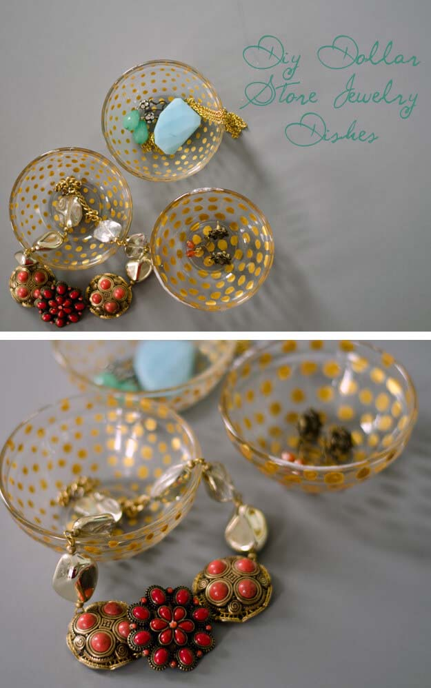Dollar Store Jewelry Dish #dollarstore #diy #homedecor #decorhomeideas