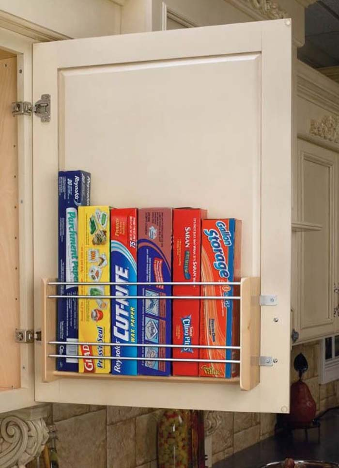 Door Attachment for Food Storage Necessities #smallkitchen #storage #organization #decorhomeideas