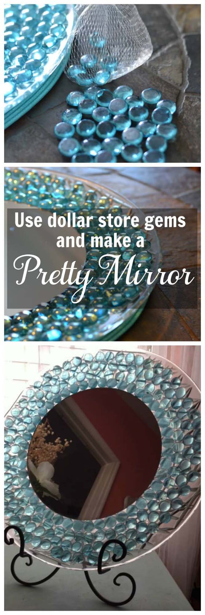 Dresser Mirror #dollarstore #diy #homedecor #decorhomeideas