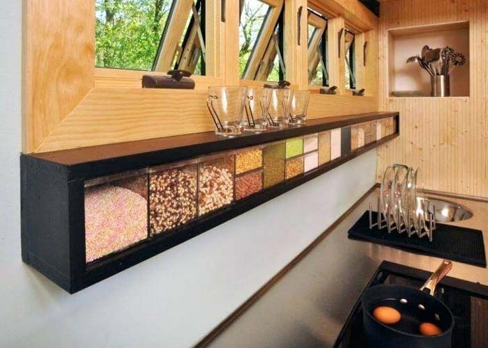 Innovative Drawers for Dry Goods #kitchen #countertop #organization #decorhomeideas
