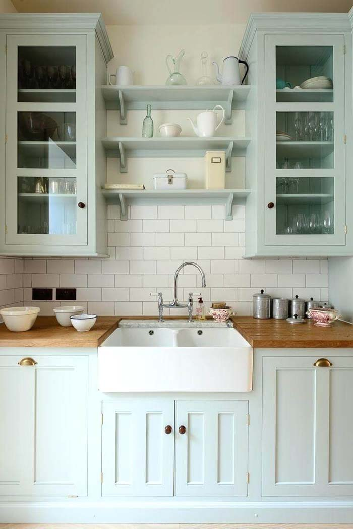 Mint Classic Style Kitchen Cabinets #farmhouse #kitchen #cabinet #decorhomeideas