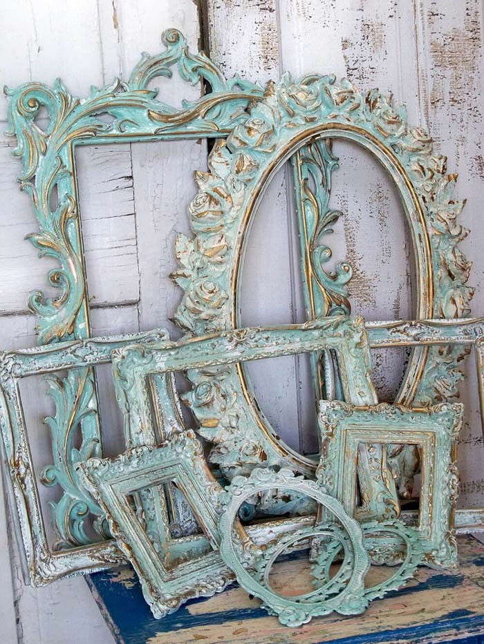 Ornate Picture Frames With Chalk-paint Patina #bedroom #vintage #decor #decorhomeideas
