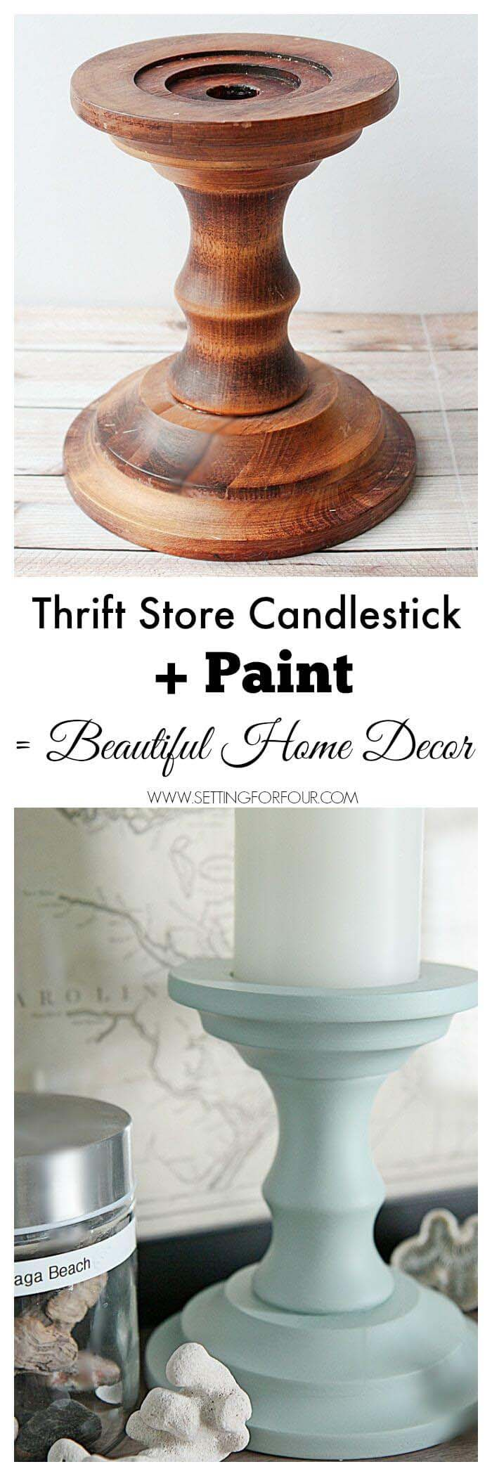 Painted Candlesticks #dollarstore #diy #homedecor #decorhomeideas